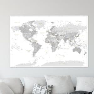 Travel map archives push pin travel maps by benny pridat world push pin map grey detailed gumiabroncs Images