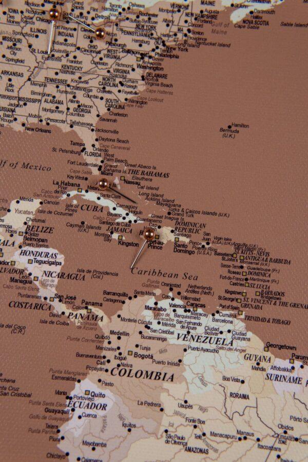 detailed world map light brown present
