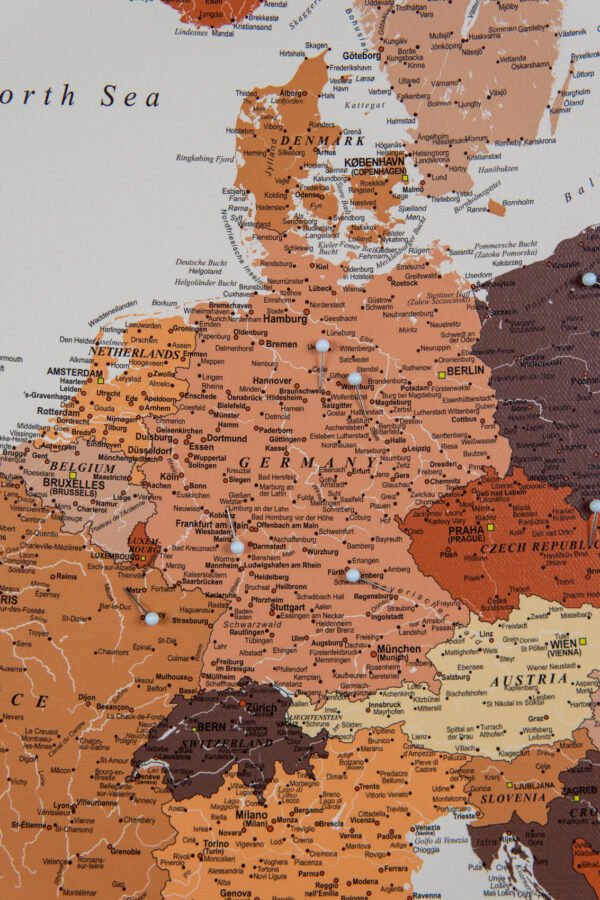 europe map high detailed brown color