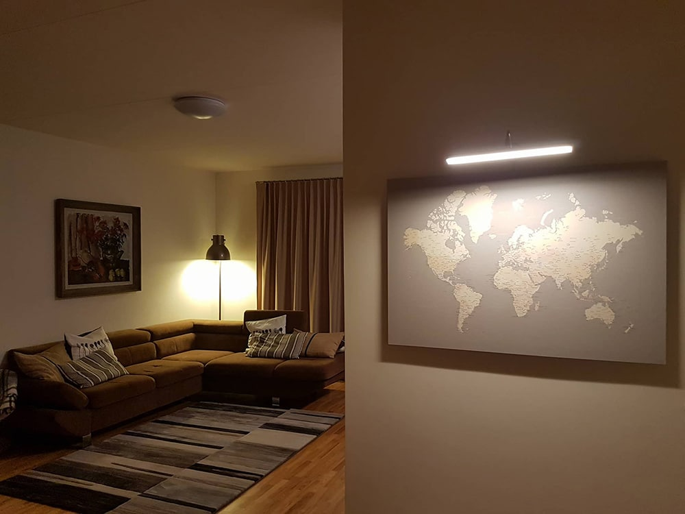 grey canvas world map with pins