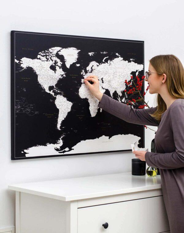 modern push pin world map tripmap
