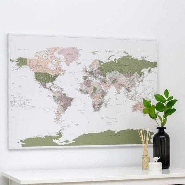 psuh pin world map green violet tripmap