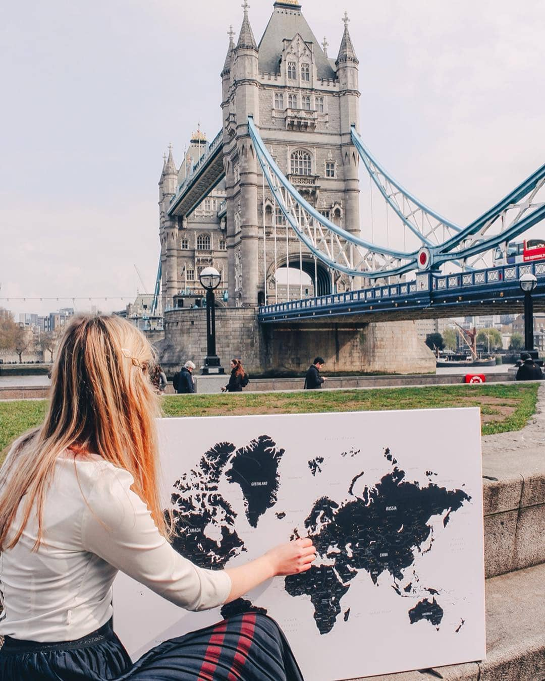 white black world map in uk london