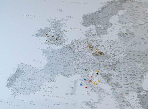 europe map pin board modern