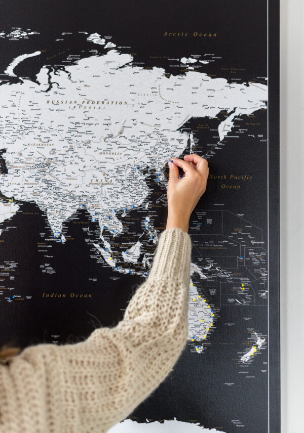 world map black to pin travel adventures