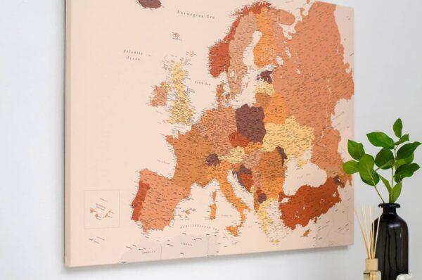 detalus europos zemelapis su smeigtukas rudas trip map