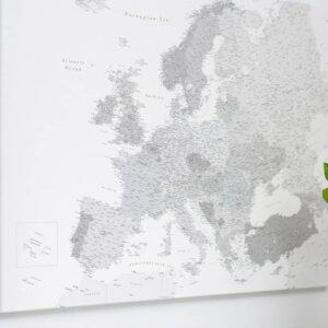 europe map wall art with pins