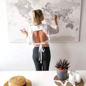 large world map wall decor push pin tripmap