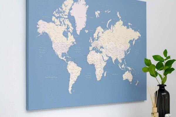 pinboard world map light blue