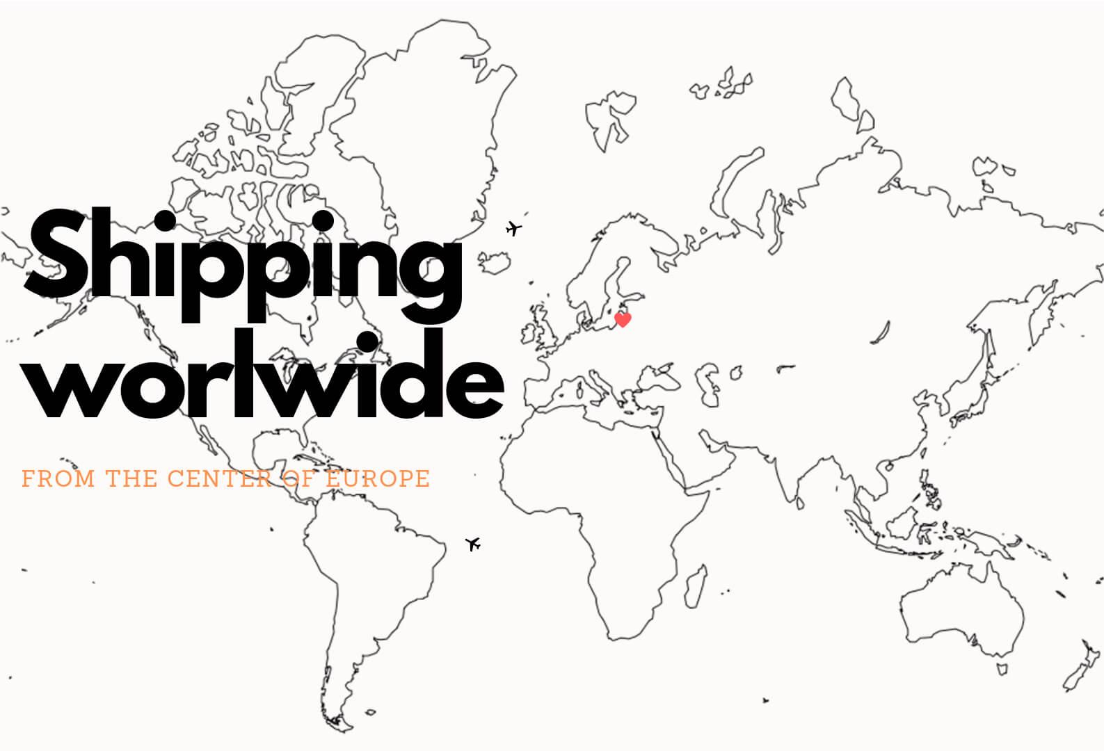 wordwide shipping tripmap
