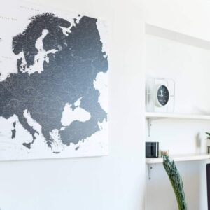 Europe-canvas-Map-Black-and-white-minimalistic-tripmapworld