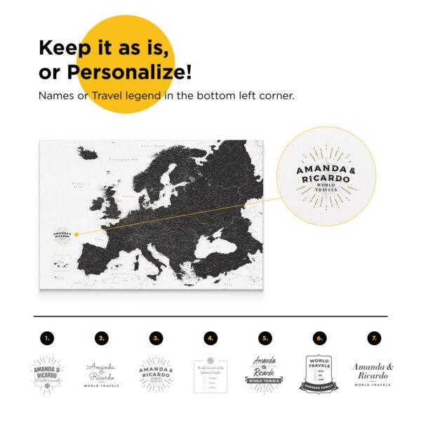 europe map personalization
