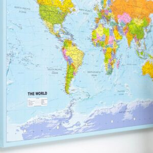 World Push Pin Map Political Detailed Push Pin Travel Maps