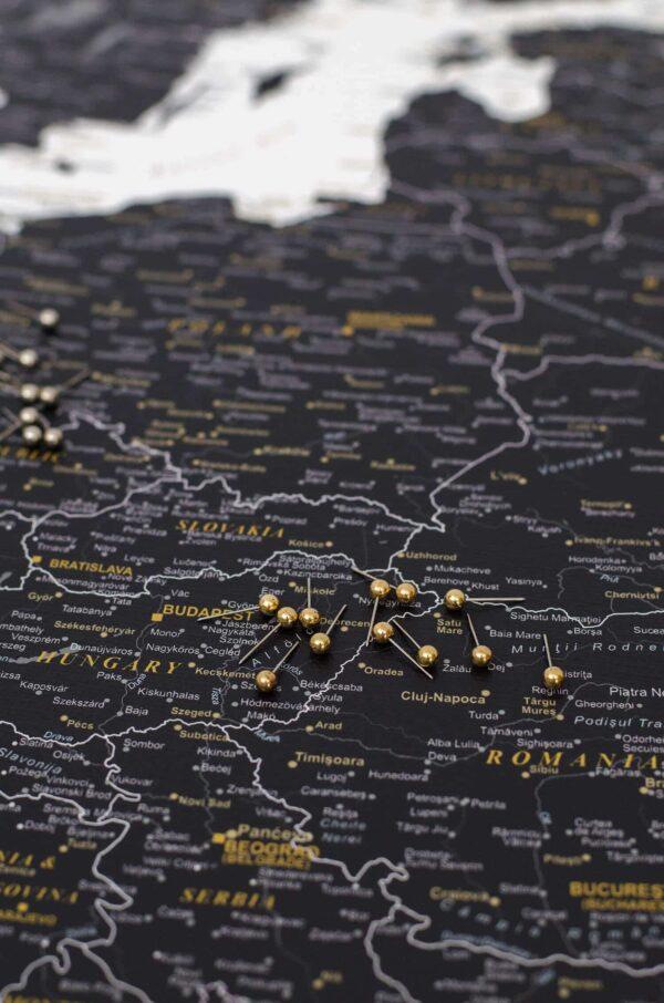 map push pins golden color tripmap