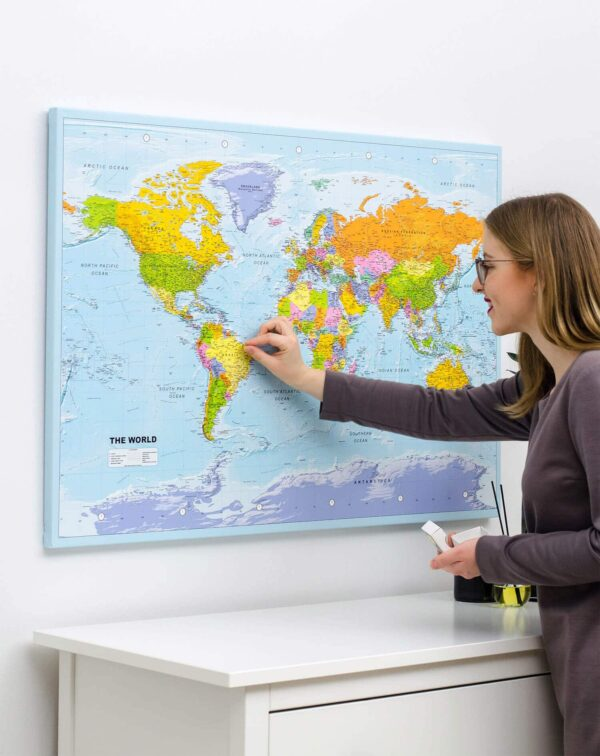 world map interior ideas with pins