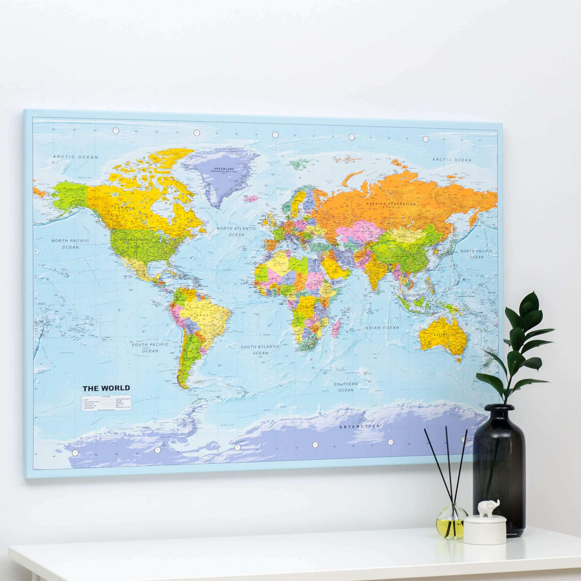 Detailed Map Of The World.World Push Pin Map Political Detailed