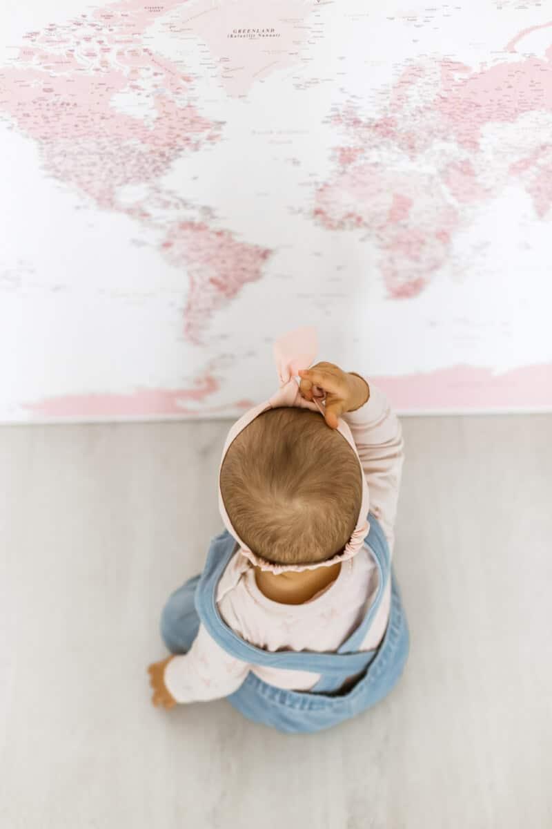 rose nursery decor map