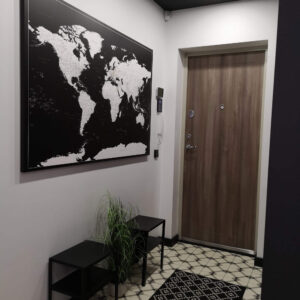 world map pinboard canvas black and white