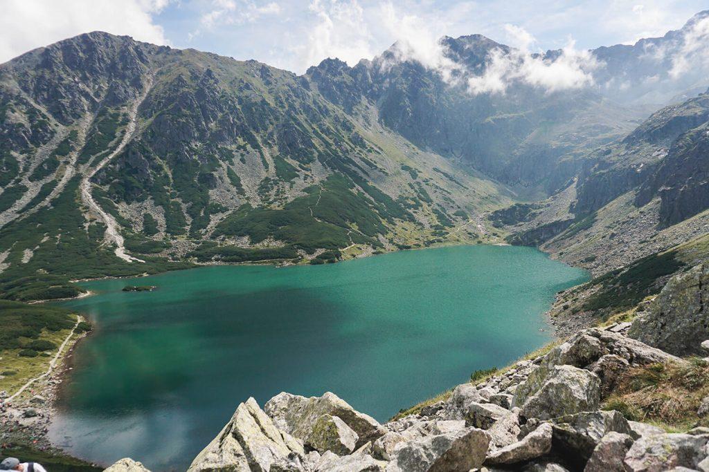 lake tatra mountains czarny staw gąsienicowy