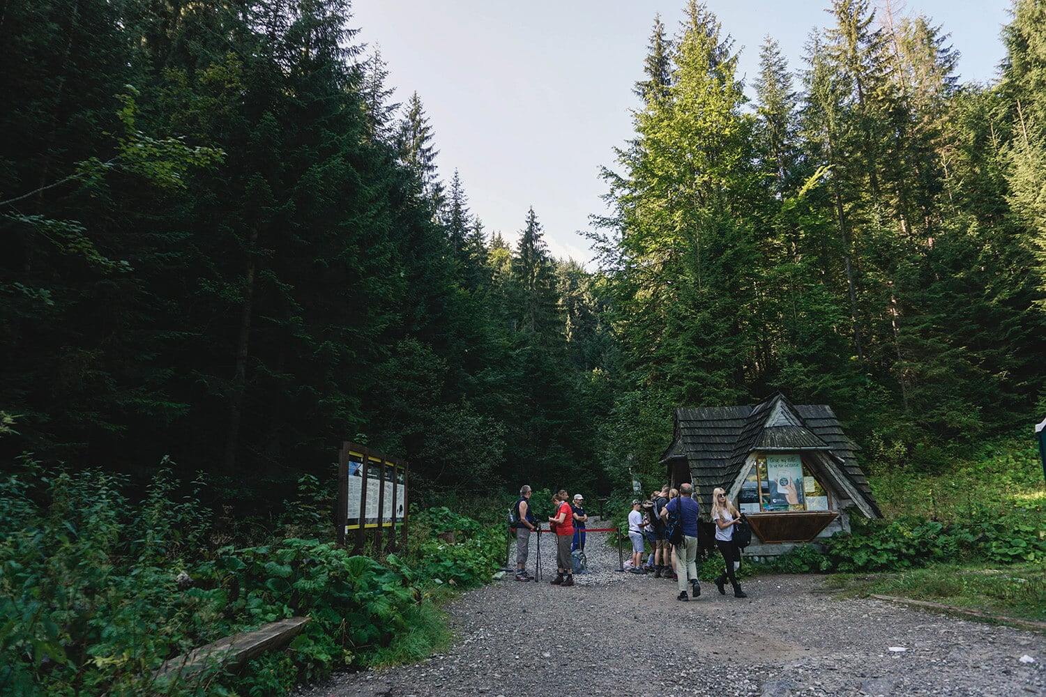 entance to tatra national park in poland