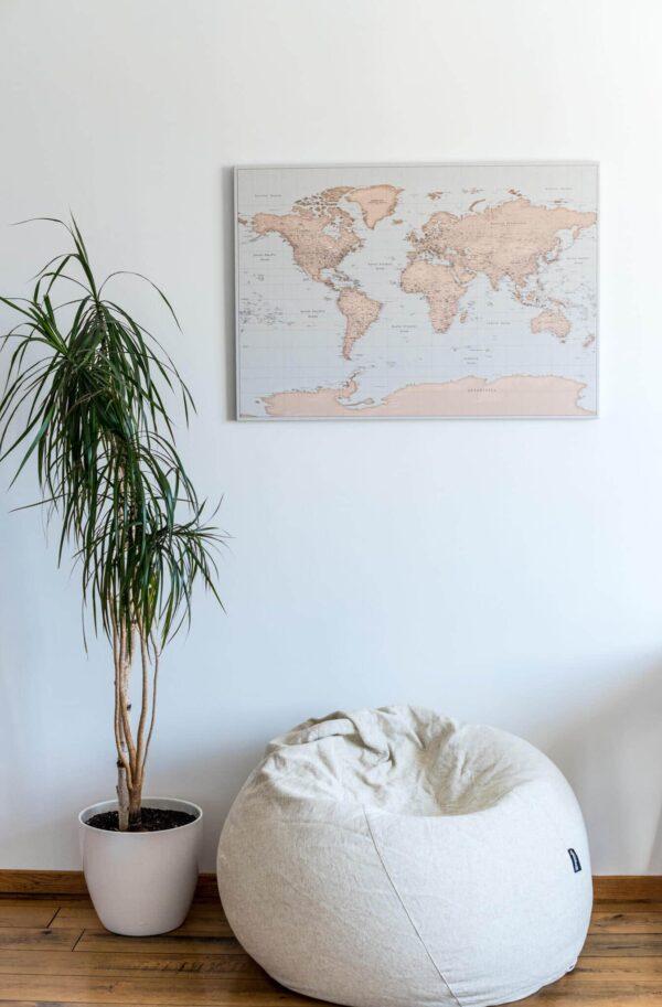 gift for traveller push pin world map
