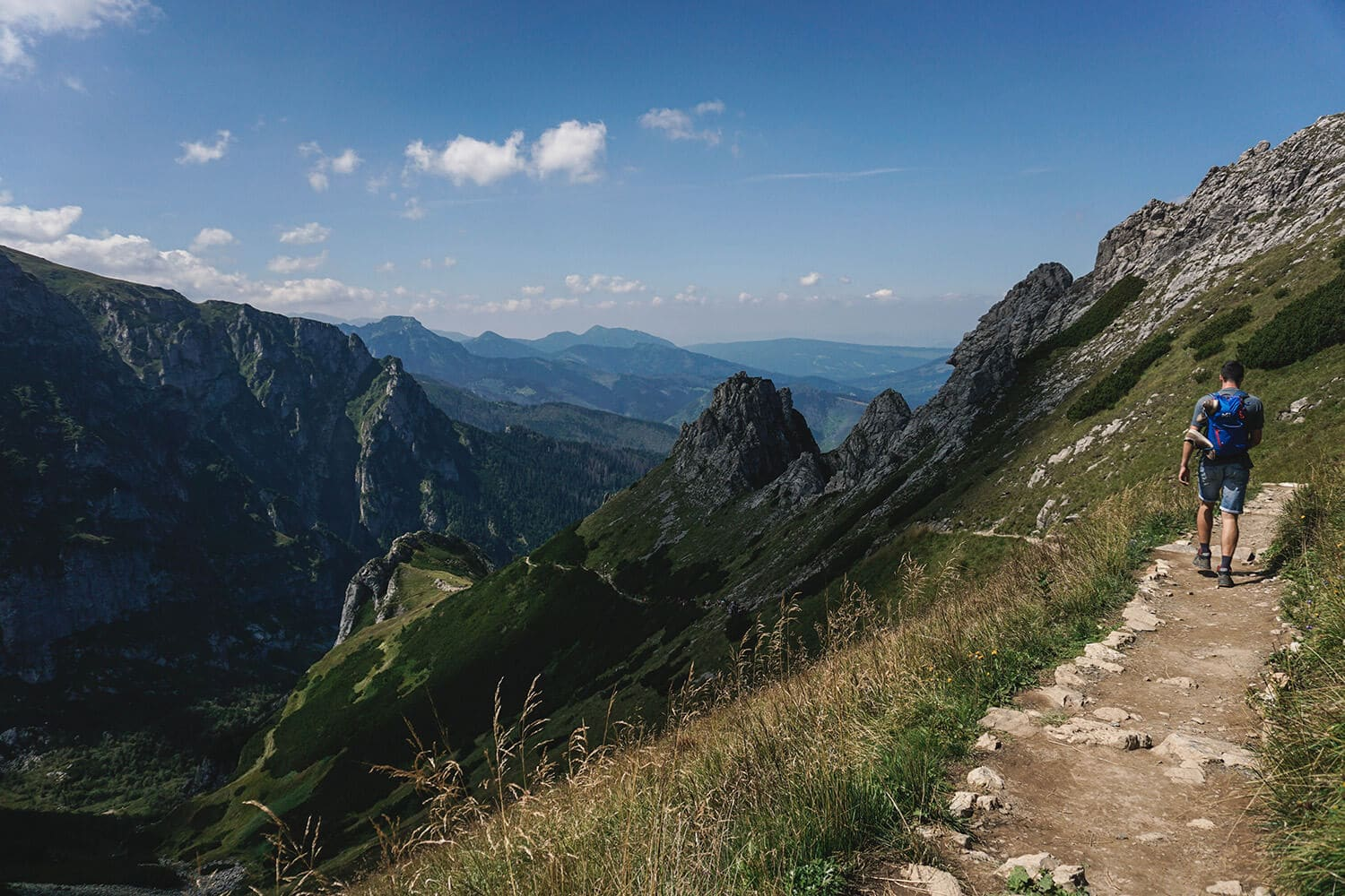 mountain trails in poland