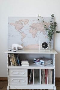 scandinavian interior world map