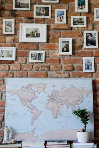 vintage world map canvas online