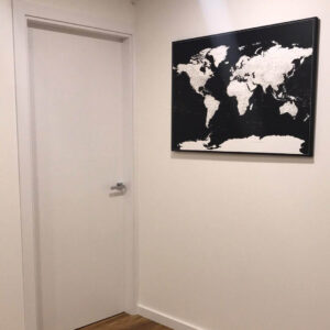 wonderlust decor world map black