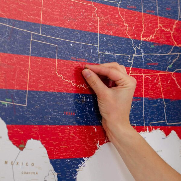canvas usa map pinboard
