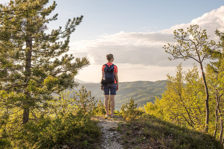 hiking in mountains europe