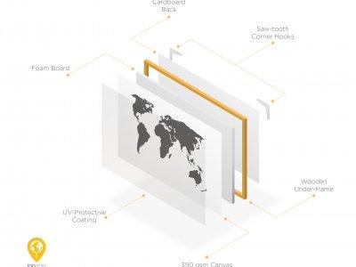 tripmapworld push pin world map made of