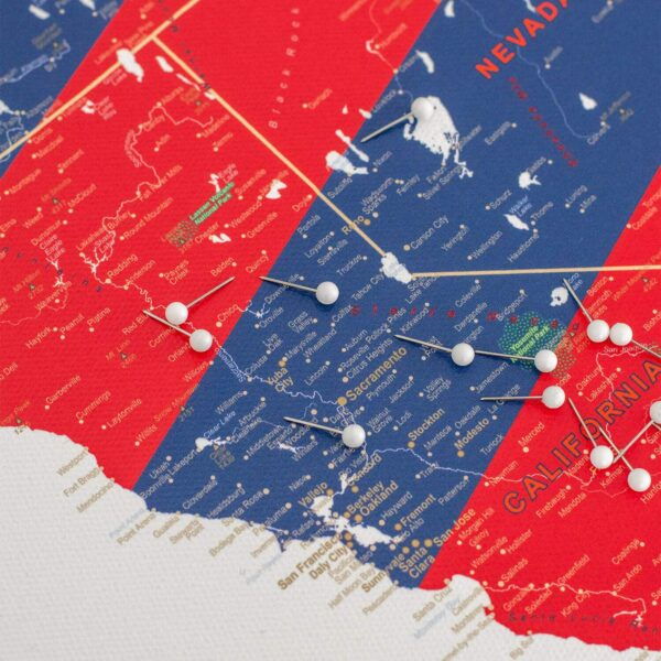 usa map with pins high detail