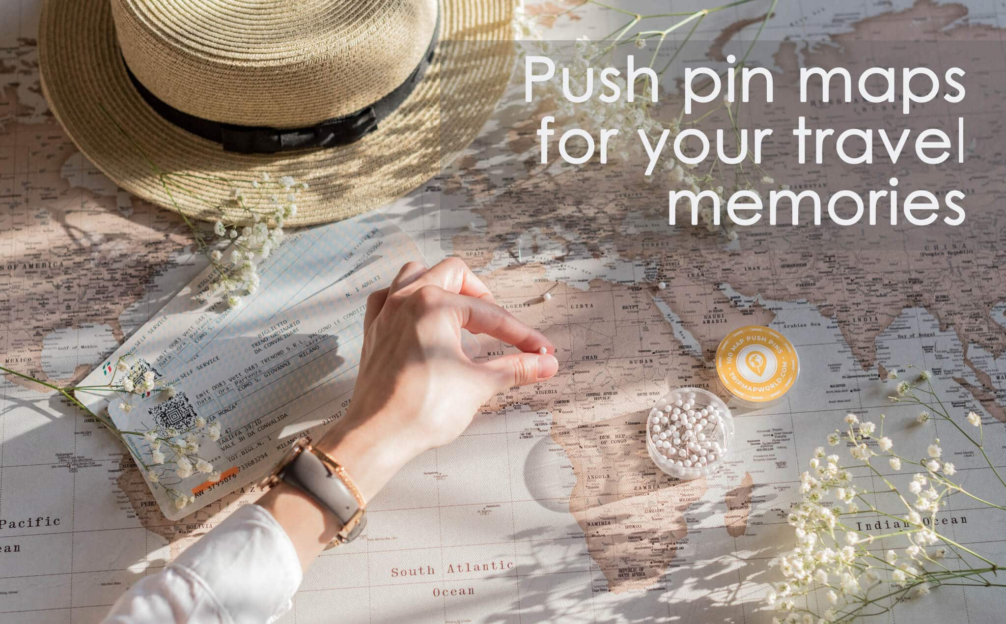 push pin travel map canvas