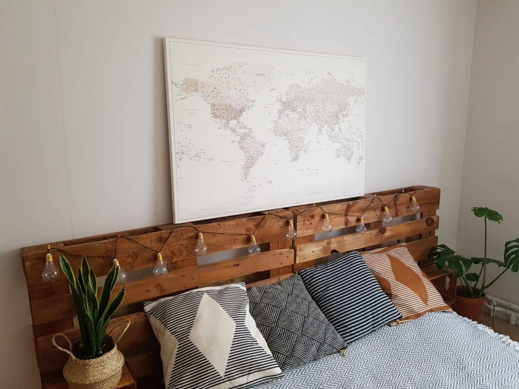 push pin world map on canvas with pins tripmapworld