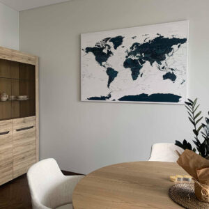 best travel gifts for couple world map pinboard