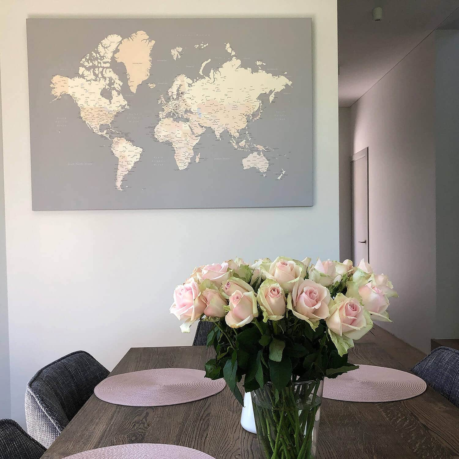 dining room decor map