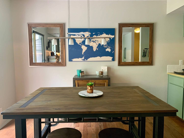 dining room travel decor ideas
