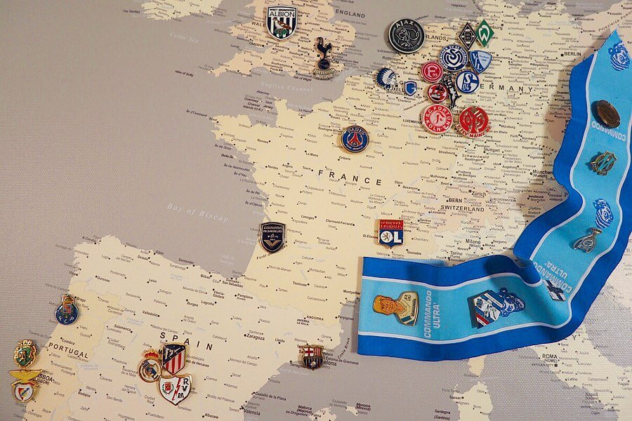 europe football stadiums map