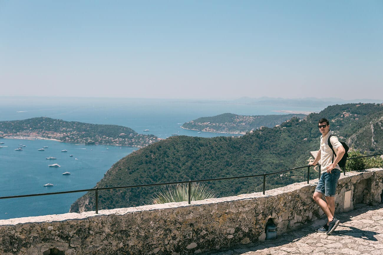 landscape view from eze garden exotic