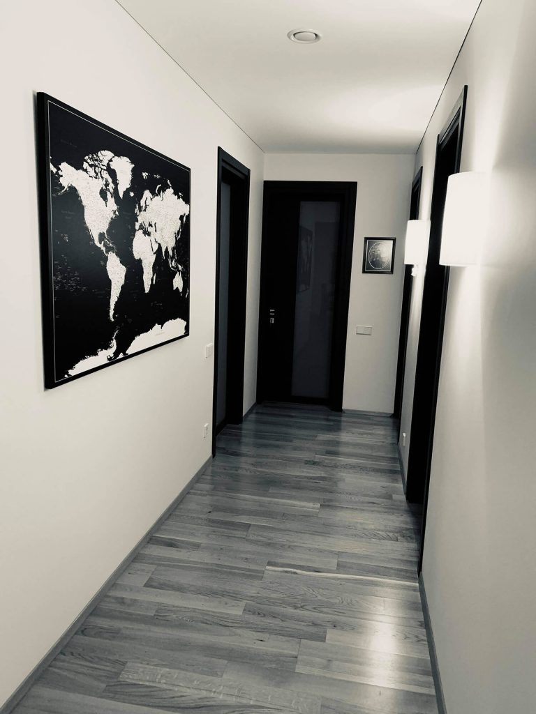 black and white world map with pins tripmapworld
