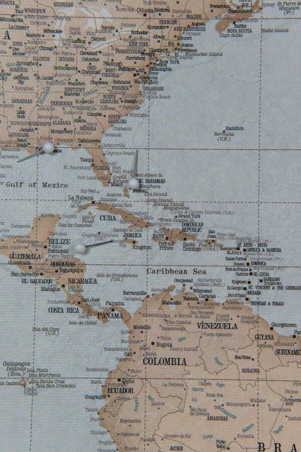pin travel map vintage design