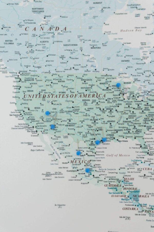sky blue push pin map
