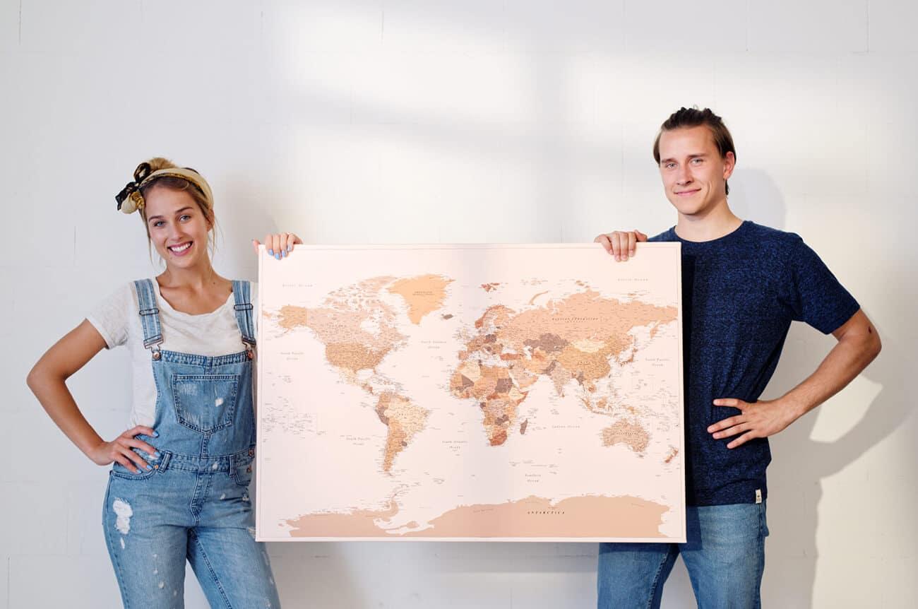 couples travel map tripmap
