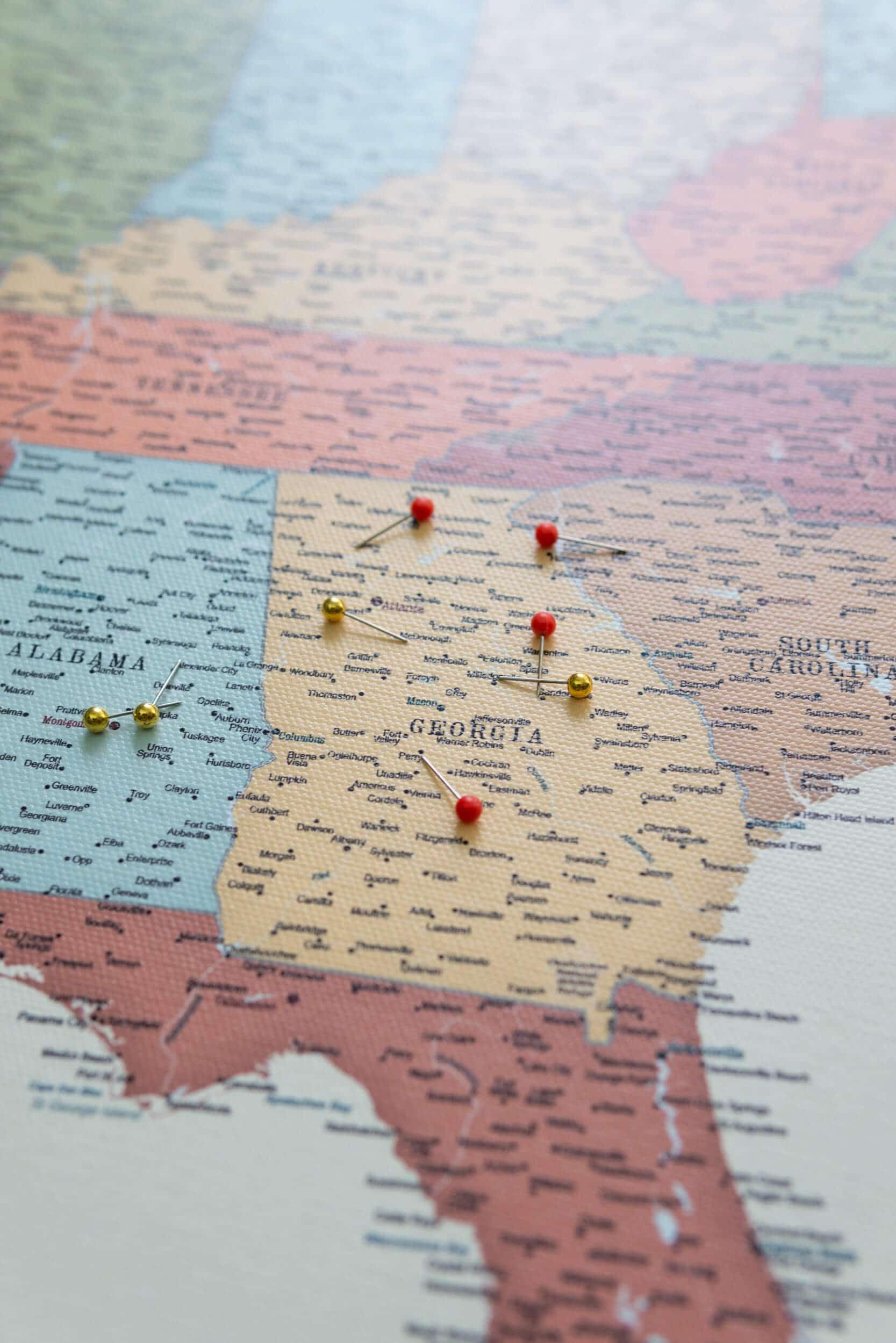 push pin usa map detailed tripmapworld