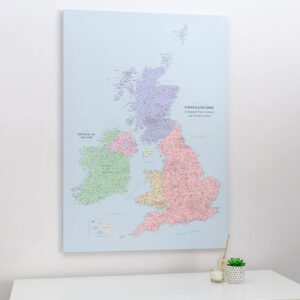 push pin uk and ireland map political