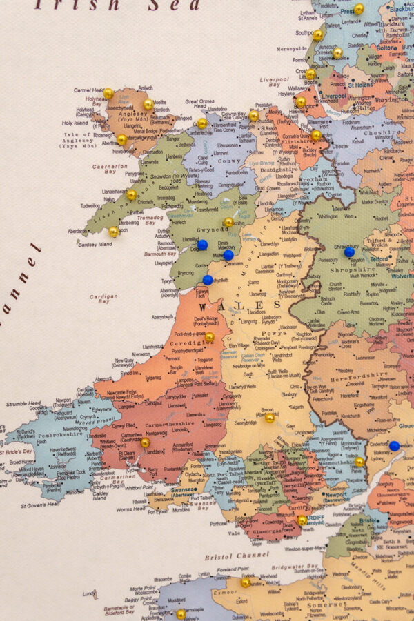 wales map colorful